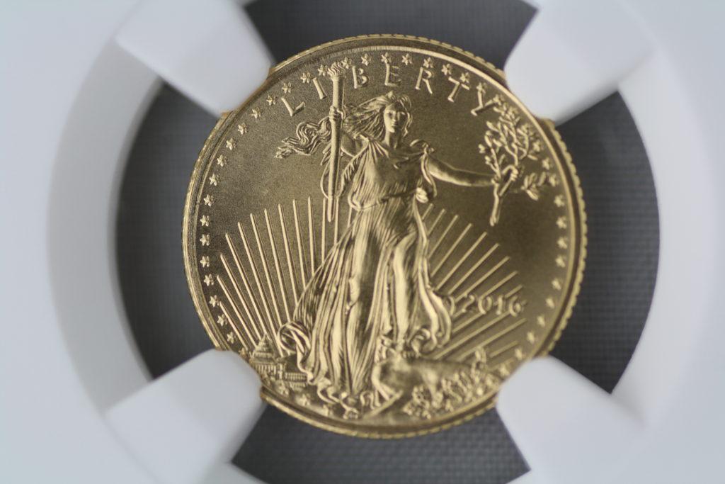 2016 Eagle 金貨 発行30周年 早期発行(フレッシュ) $5 NGC MS70