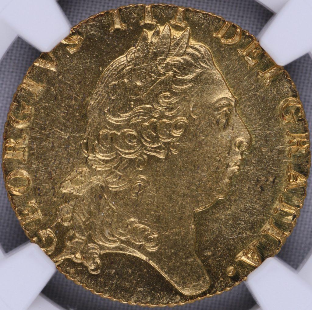 最高グレード MS65 ギニー金貨 イギリス ジョージ3世 ギニー全体でも3位 1799年 完全未使用品 FDC NGC (M00001)