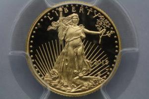 2015 W Gold Eagle $5 PR70DCAM Edmund C Moy signed First Day of Issue-Denver