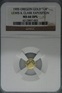 1905年 ルイス&クラーク エキスポ オレゴン 1/4 MS66 Deep Prooflike(最高グレード)