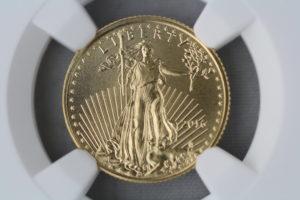 2016年 American Gold Eagle 金貨 発行30周年記念 $5 NGC MS70