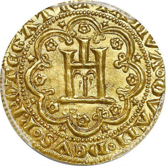 トップグレード ジェノヴァ(イタリア) ジェノヴィーノ 金貨 1339年〜1363年 MS63 PCGS