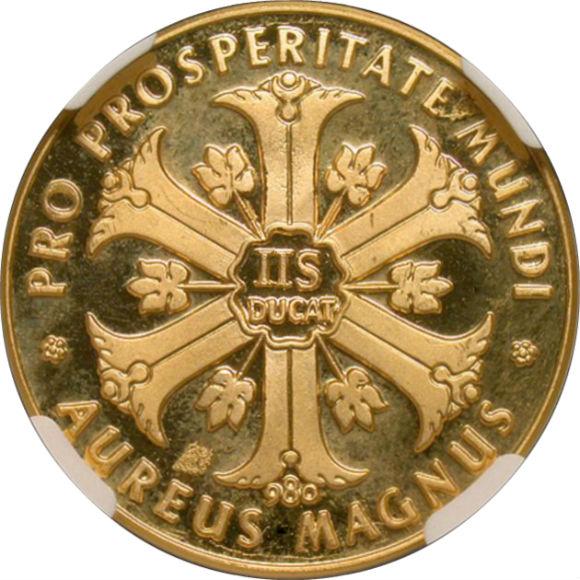 オンリーワングレード マリア・テレジア 生誕250年 2.5ダカット 金メダル 1967年 ウルトラカメオ PF63UC NGC