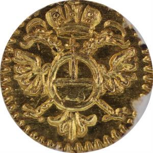 """トップグレード レーゲンスブルク(ドイツ) 1/16ダカット """"Bイニシャル"""" 1750年頃 金貨 MS66 NGC"""