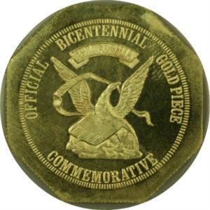 オンリーワングレード オーギュスト・ハンバート 高騰50ドル 発行記念 金メダル アメリカ独立宣言記念 1976年 アメリカ 八角形 MS67 ANACS