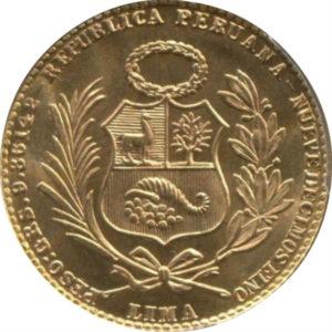 トップグレード 20ソル 空前絶後品 ペルー 金貨 1966年 MS68 PCGS