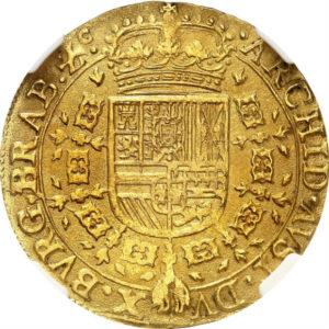 トップグレード ダブルソブリン金貨 ブラバント(ベルギー) フェリペ4世 ブリュッセル 1641年 MS63 NGC
