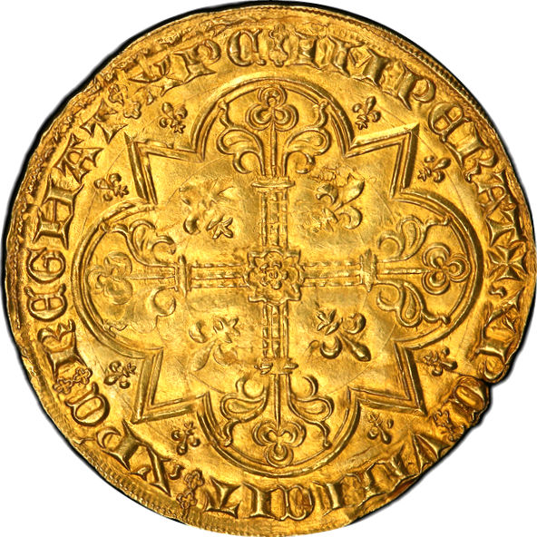(世界で4枚!のうち)セカンドグレード 2ムートン金貨 ブラバント(ベルギー) 金の羊(Mouton D'or) MS63 PCGS