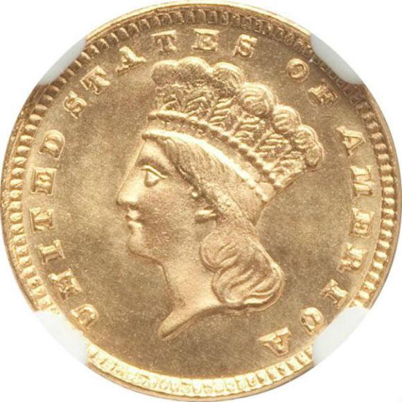 トップグレード(同列) 1ドル 金貨 アメリカ トップグレードの上乗せクオリティ「空前絶後品」インディアンヘッド(ラージ) タイプ3 1885年 MS68 NGC