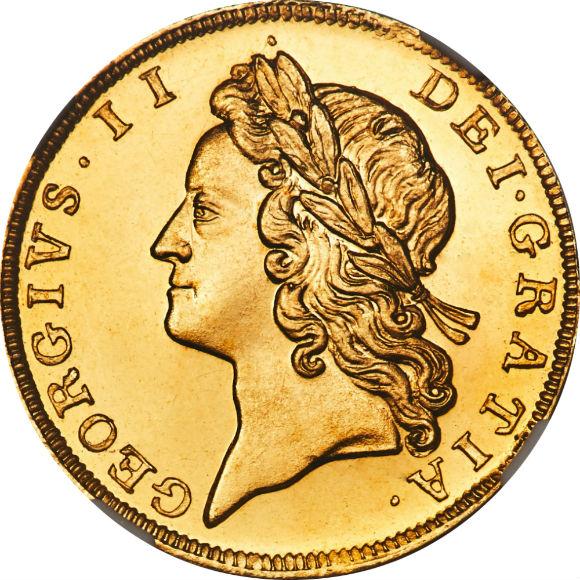 トップグレード イギリス 1/2ギニー すべてのギニーでトップ(同列) プルーフ カメオ ジョージ2世 1728年 CAMEO PF66 NGC