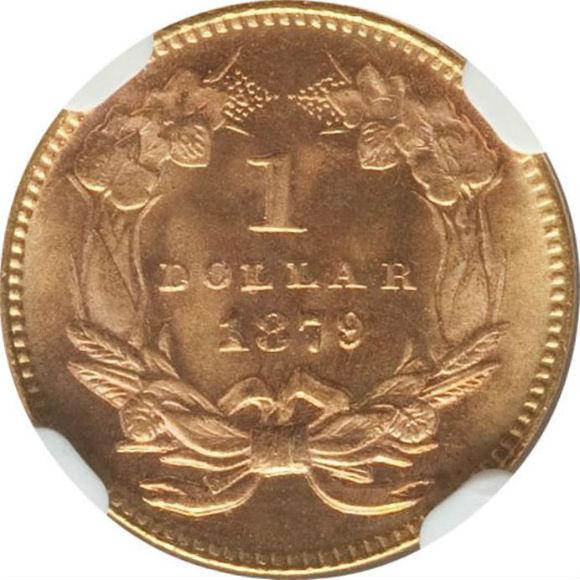 トップグレード(同列) 1ドル 金貨 アメリカ 「空前絶後品」一歩手前 インディアンプリンセス ラージヘッド タイプ3 1879年 MS67+ NGC