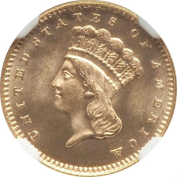セカンドグレード(同列) 1ドル アメリカ 金貨 セカンドGでこの価格は値ごろ感高い インディアンプリンセス ラージヘッド タイプ3 1879年 MS67★ NGC