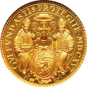 オンリーワングレード ザルツブルク大聖堂 再建300周年記念 ゴールドメダル 23.6カラット(.986) ヨーロッパの精彩なデザイン オーストリア プルーフ 1928年 PF66 NGC