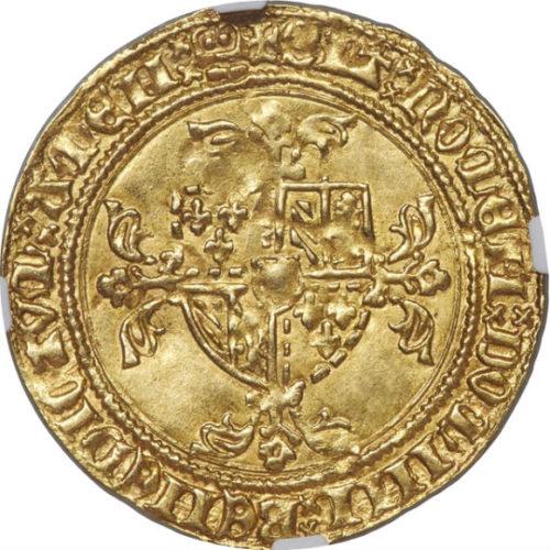 トップグレード ライオン金貨 フランドル(ベルギー) フィリップ3世 ヴァロワ=ブルゴーニュ家 ブリュージュ鋳造 MS64 NGC