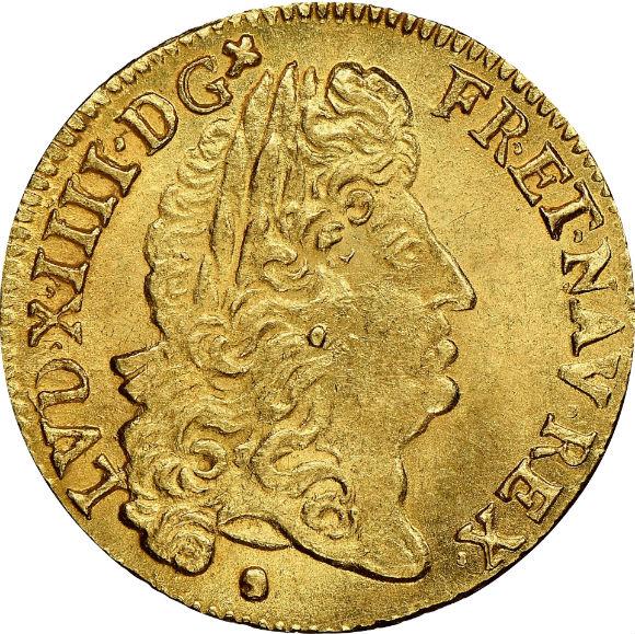 トップグレード(単独) ルイドール金貨 全ルイドールでセカンドグレード 実質トップバリュー ルイ14世 モンペリエ鋳造所 1690年 MS66+ NGC