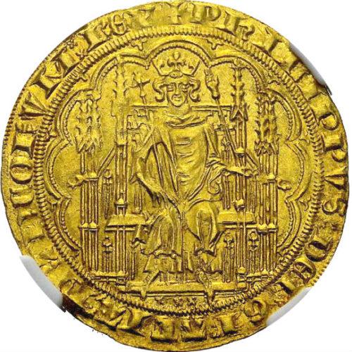 (特典あり)トップグレード(同列) シェイズ金貨 フランス フィリップ6世 ヴァロワ朝 全シェイズ金貨でトップ 1346年 MS65 NGC