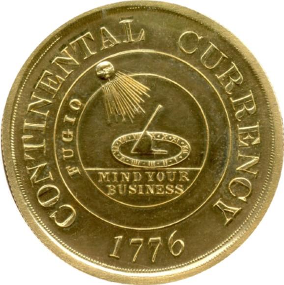オンリーワングレード 大陸通貨ドル RESTRIKE ゴールドメダル アメリカ最初の硬貨 アメリカ独立 大陸会議 1776年 プルーフ MS64PL NGC