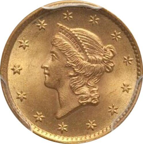 トップグレード(同列) 1ドル 金貨 アメリカ リバティーヘッド タイプ1( 初期) 1854年 MS67 PCGS