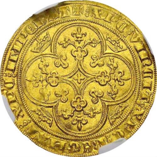 トップグレード(同列) シェイズ金貨 フランス フィリップ6世 ヴァロワ朝 全シェイズ金貨でトップ 1346年 MS65 NGC