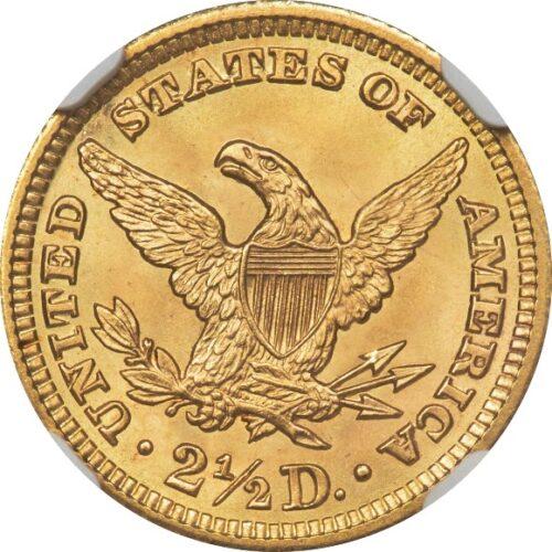 トップグレード(同列) 2.5ドル 金貨 トップグレードの上乗せクオリティ 「空前絶後品」 クォーターイーグル リバティーヘッド 1903年 MS68 NGC